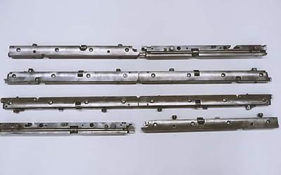 Platten-Spannschienen für 2 Druckwerke